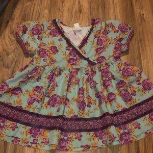 Size 10 Matilda Jane rose 🌹 tunic top Euc